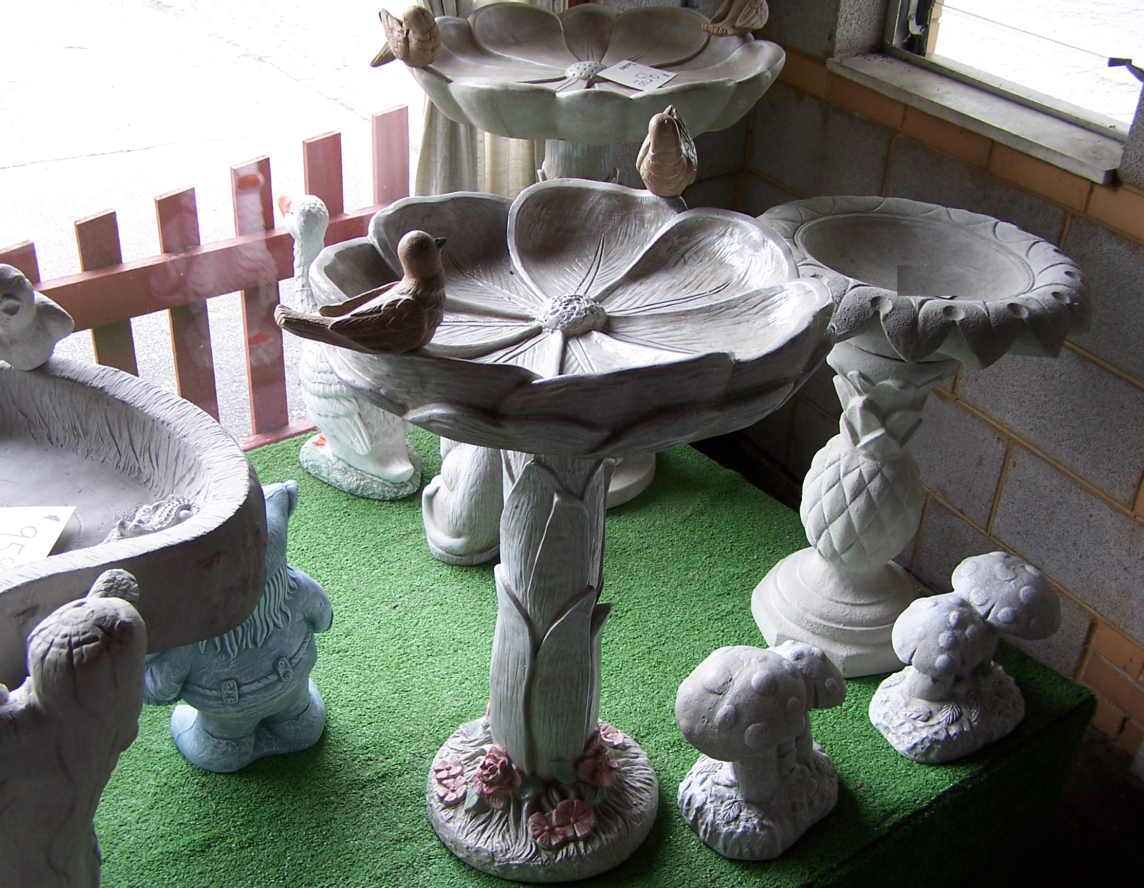 Bertacchi and sons home and garden cement statuary flower pots animals saints granite benches - Cement cloth garden ornaments ...
